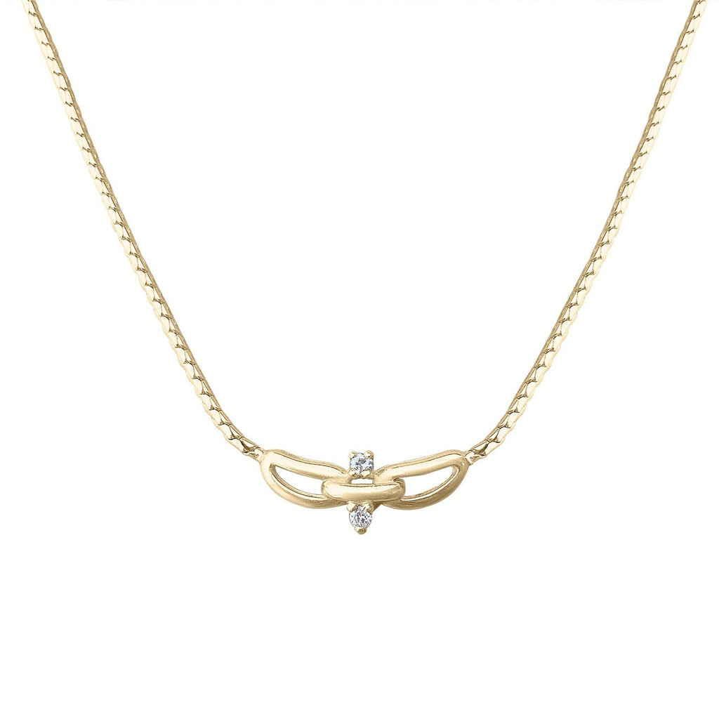 Vintage Gold and Diamond Necklace by Fewer Finer