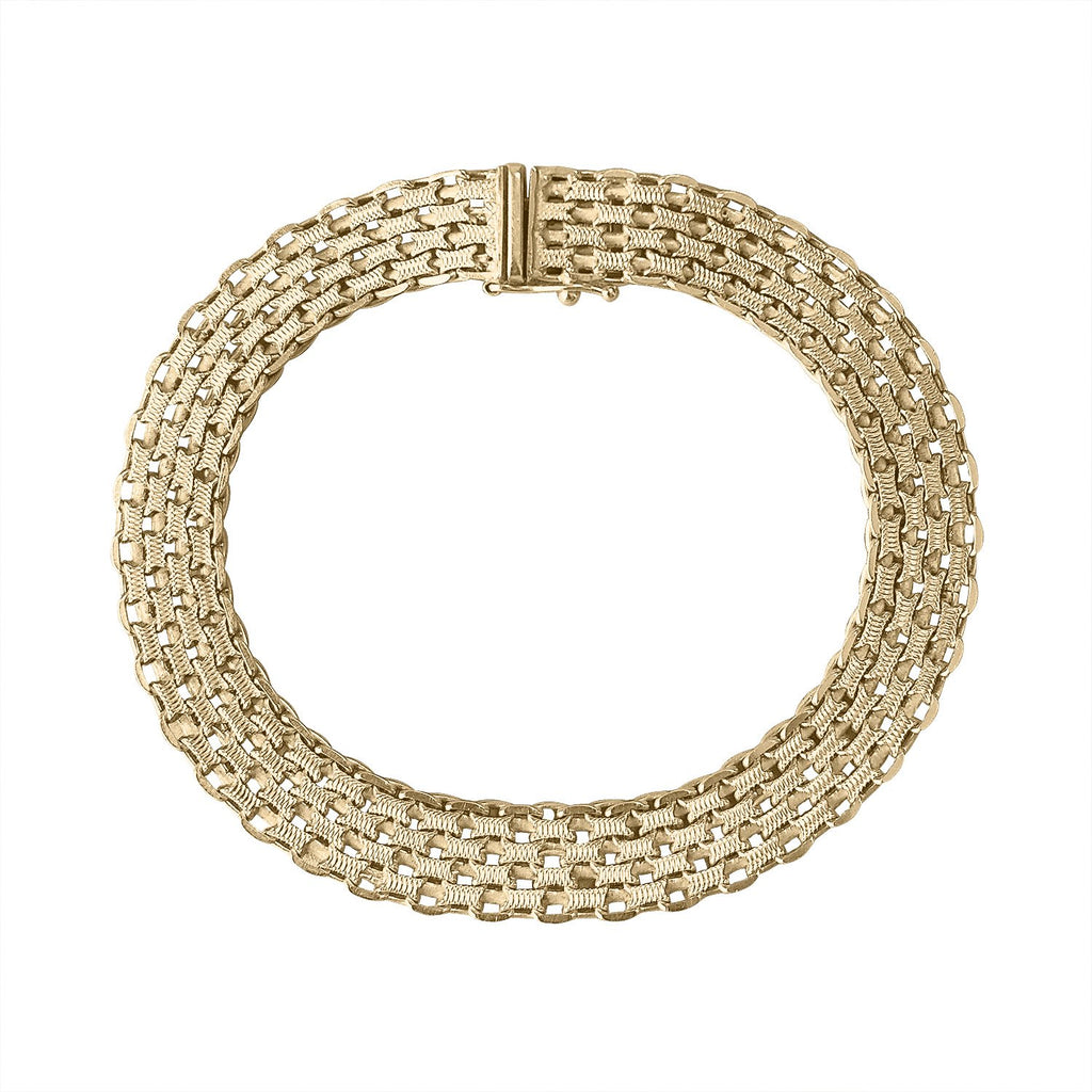 Vintage Woven Gold Bracelet by Fewer Finer