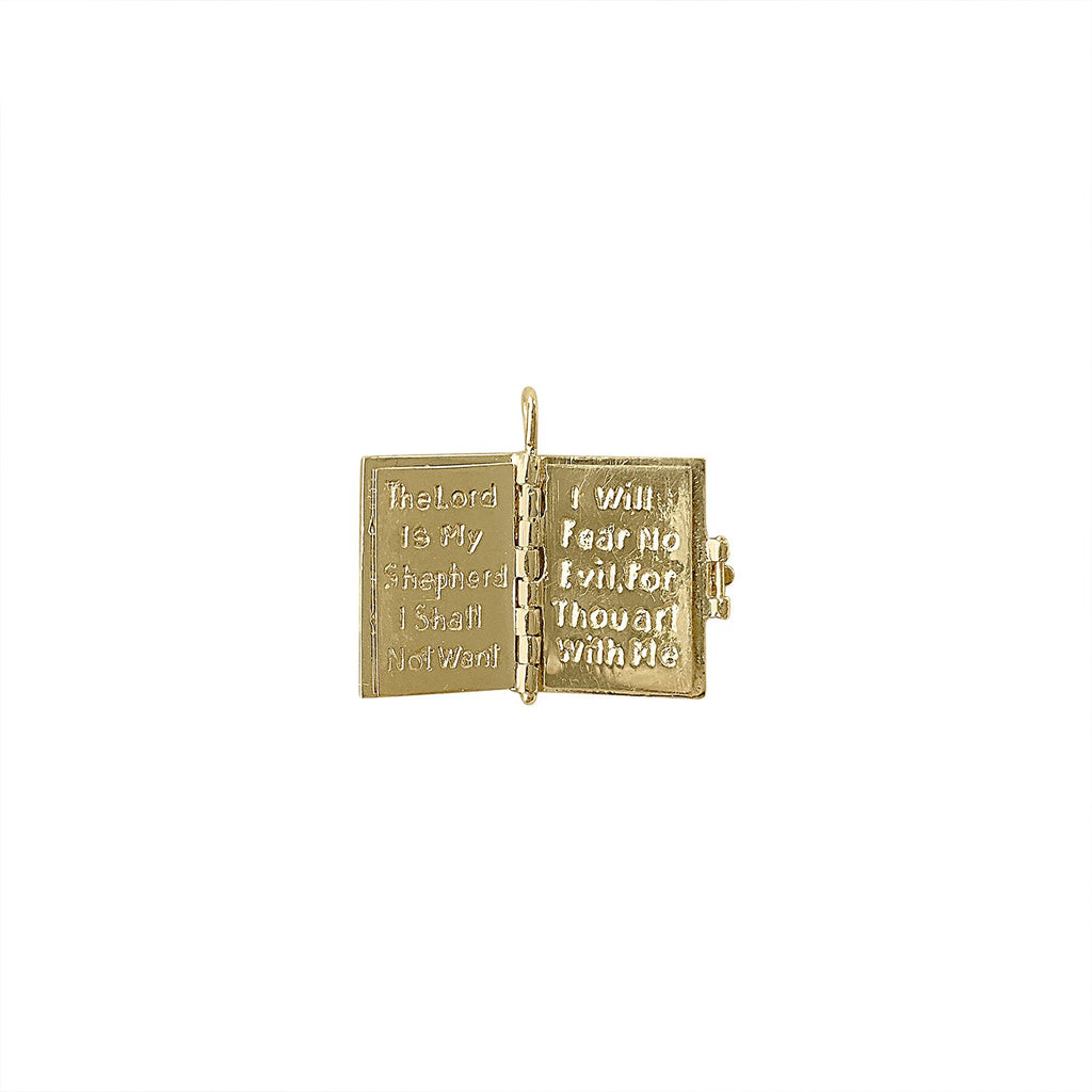 Vintage Holy Bible Charm for Women