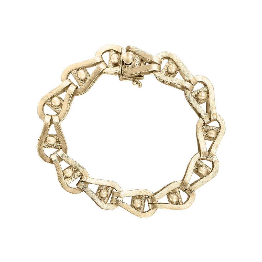 Vintage Chunky Link Bracelet by Fewer Finer