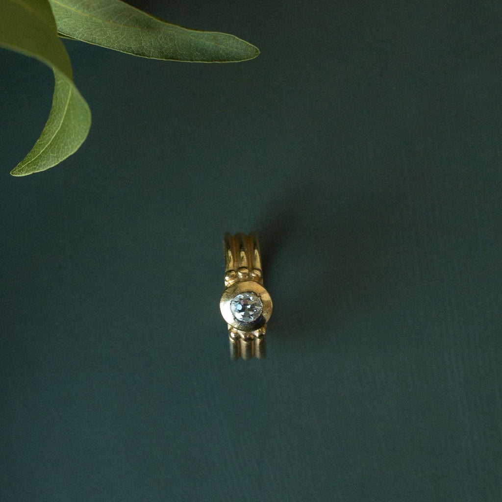 14k Gold Vintage Diamond Ring by Fewer Finer