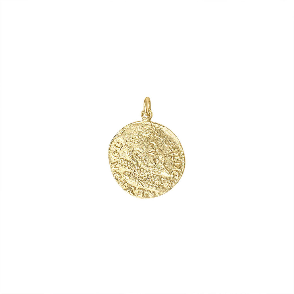 Vintage Large Roman Coin Charm by Fewer Finer