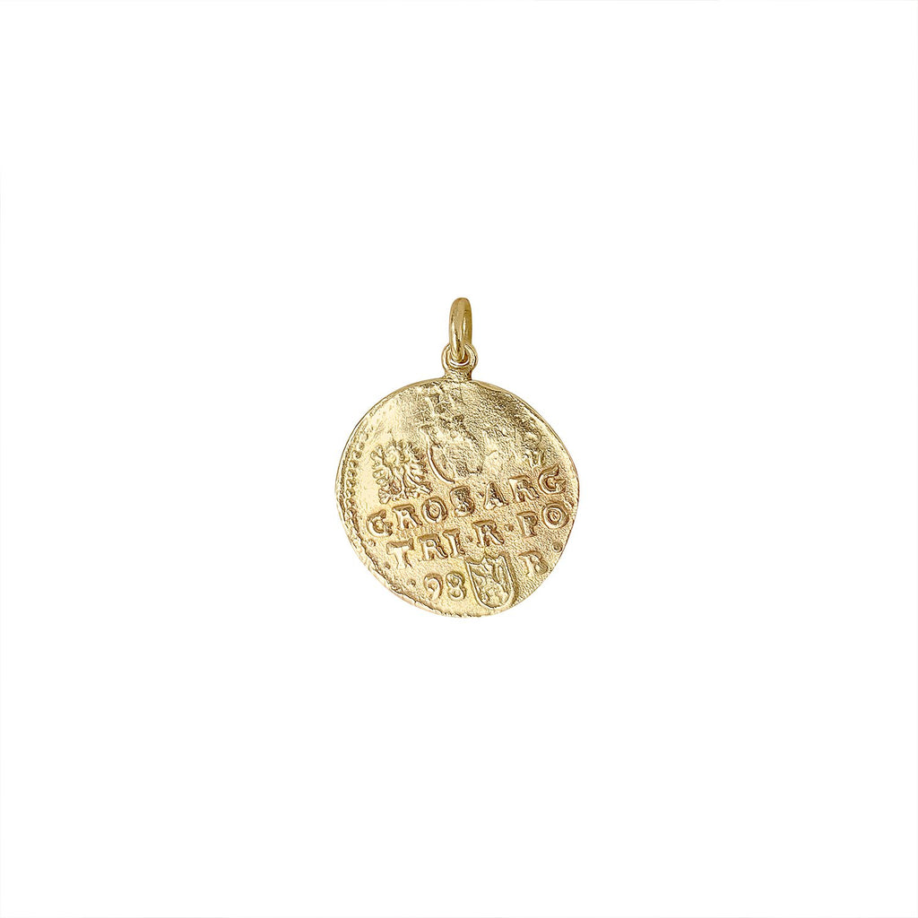 Vintage Large Roman Coin Charm for Women