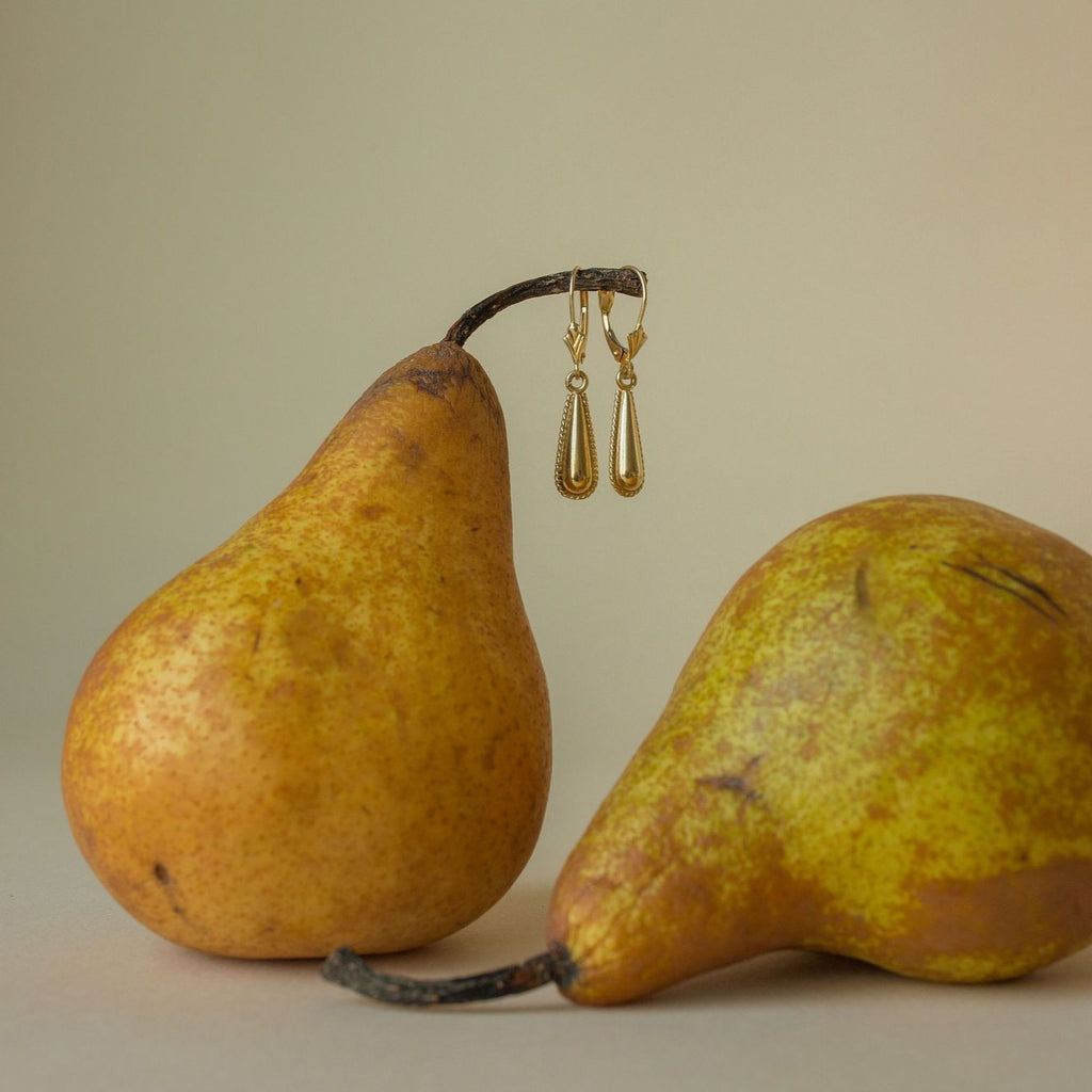 Vintage Large Teardrop Earrings for Women