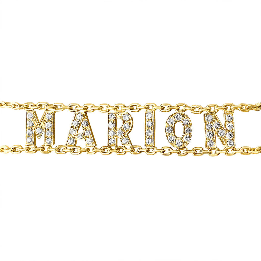"Vintage ""Marion"" Gold and Diamond Bracelet by Fewer Finer"
