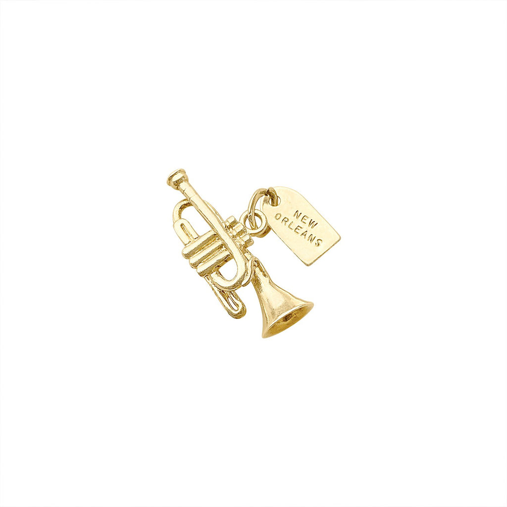 Vintage New Orleans Jazz Trumpet Charm by Fewer Finer
