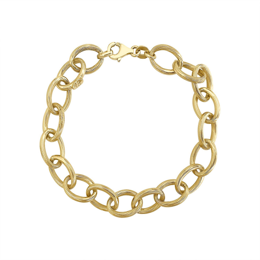 Vintage Piped Link Chain Bracelet for Women