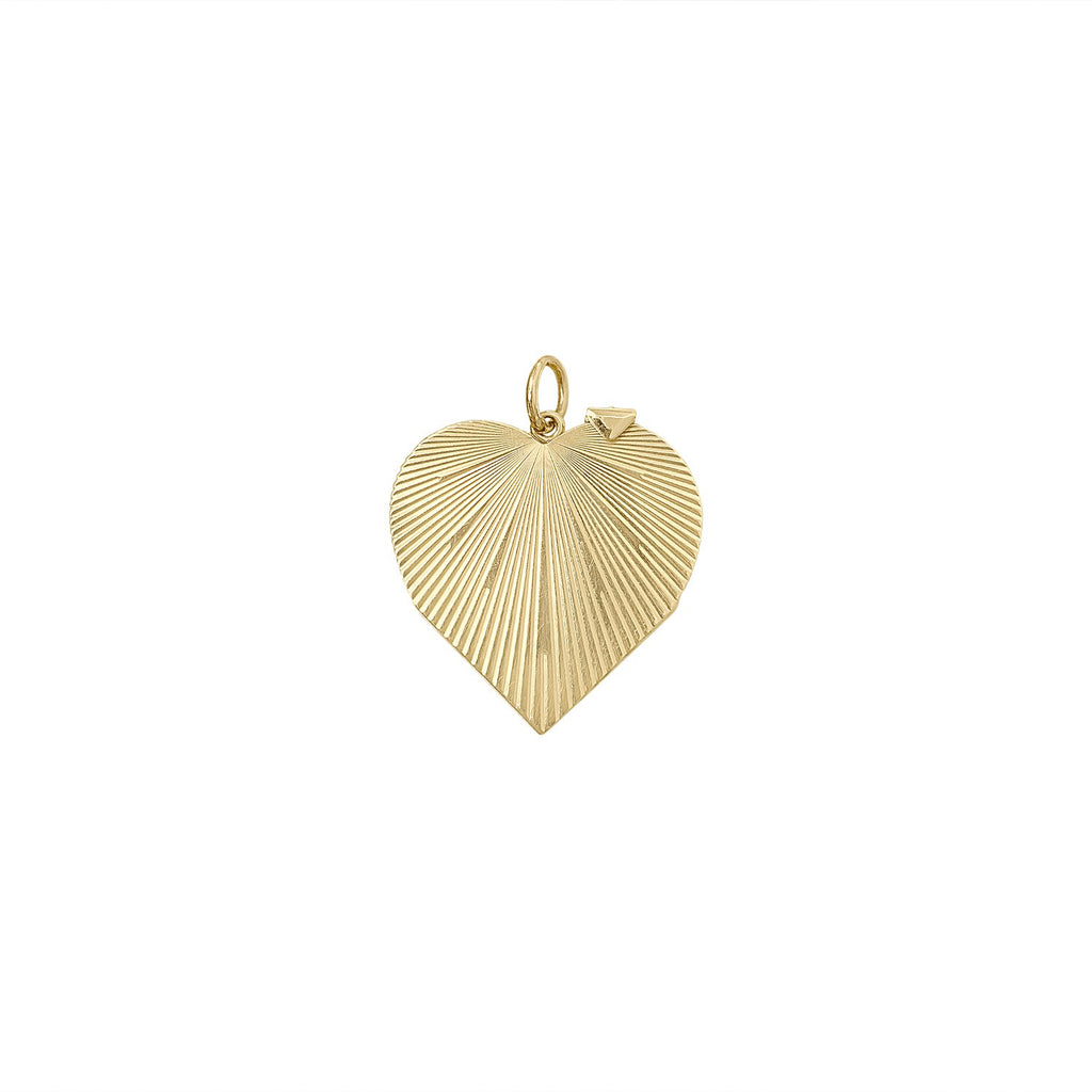 Vintage Radiant Heart Folding Locket Charm by Fewer Finer