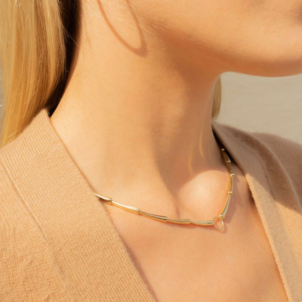 Vintage Teardrop Gold Collar by Fewer Finer
