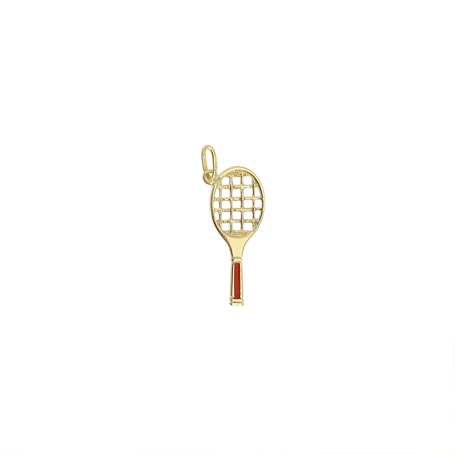 Vintage Tennis Racket Charm by Fewer Finer