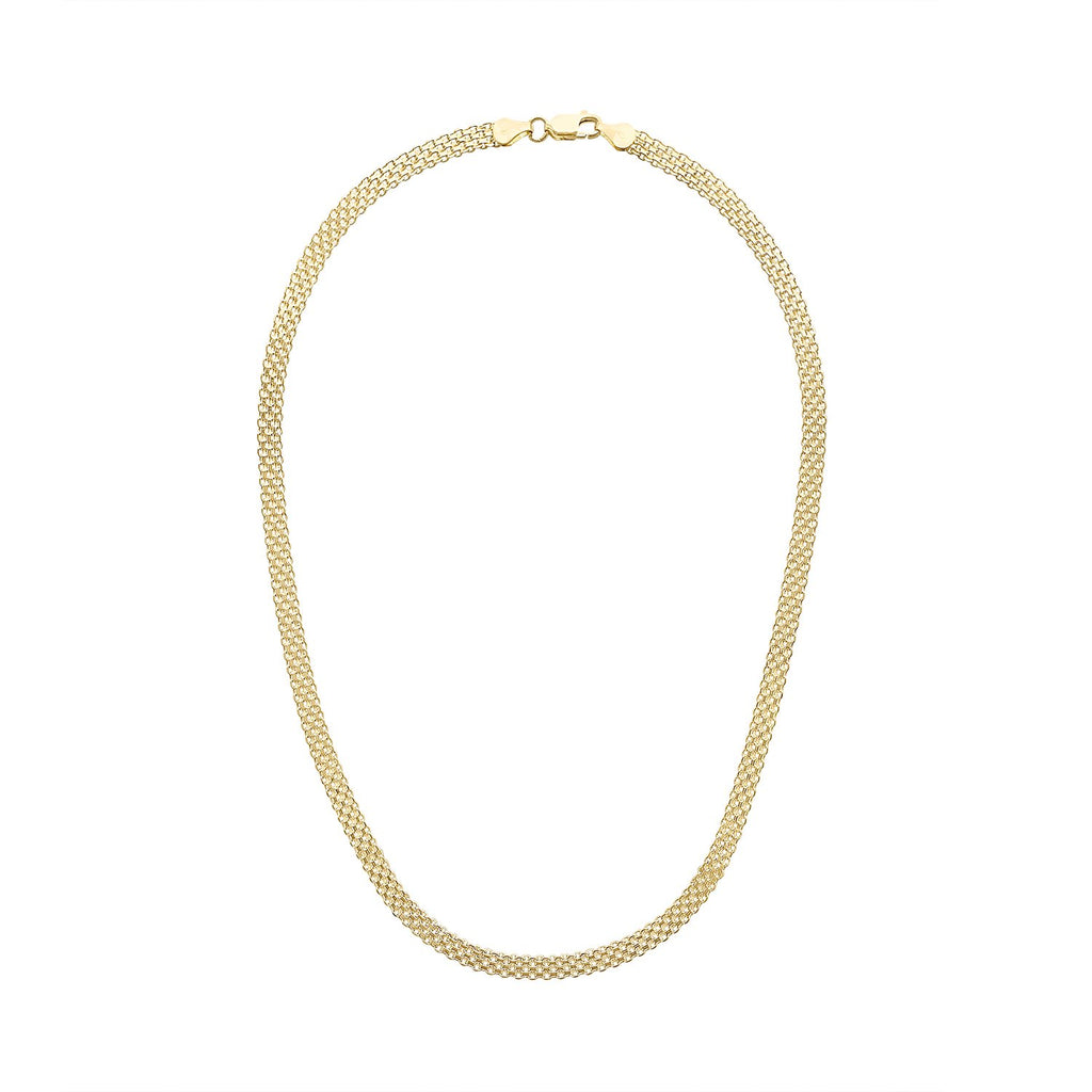 Vintage Woven Wide Chain Necklace by Fewer Finer