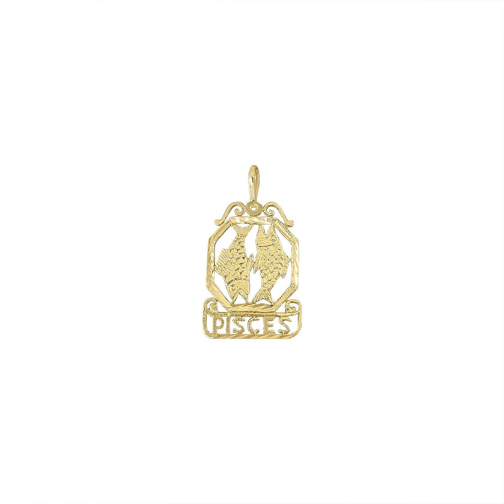 Vintage Zodiac Pisces Charm by Fewer Finer