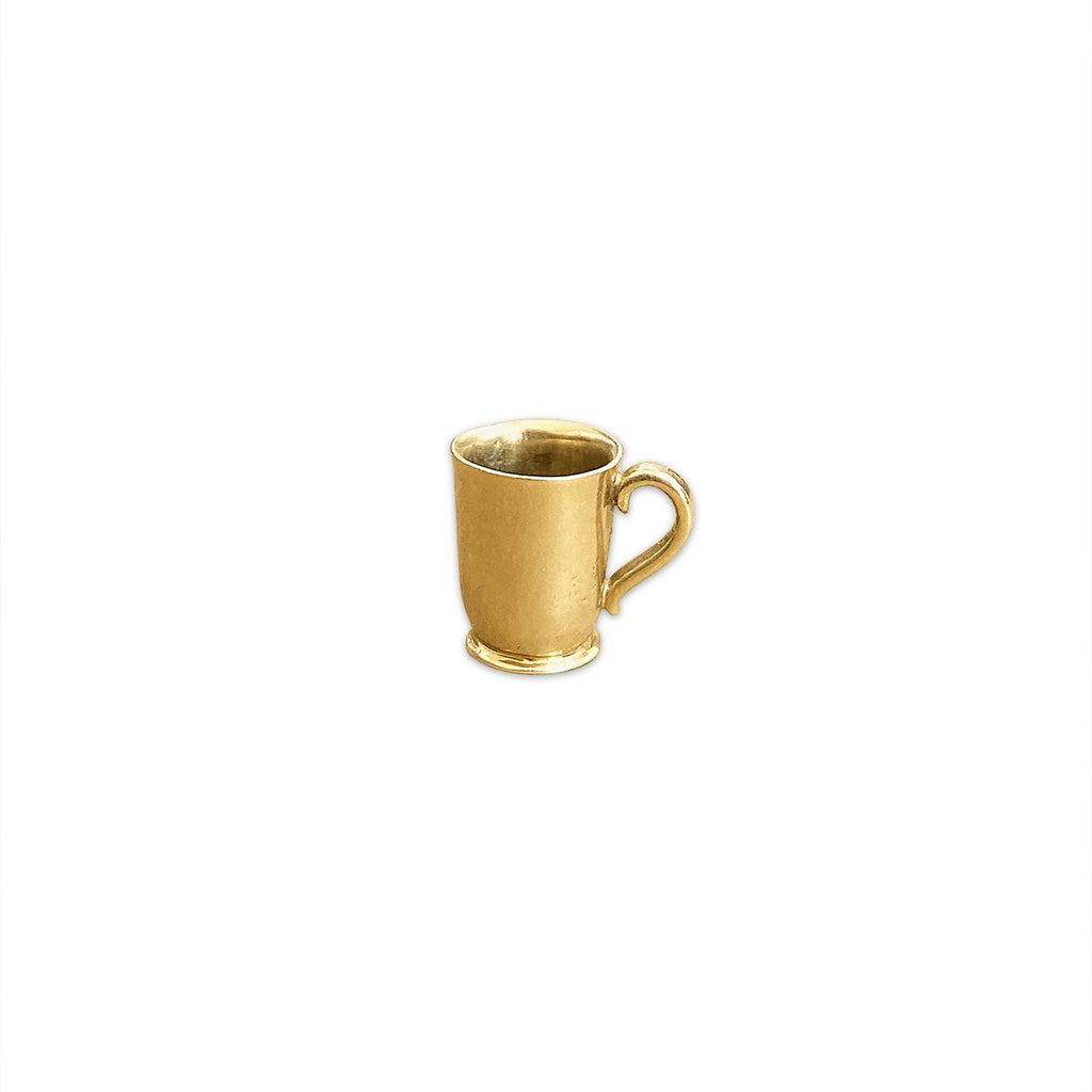 Vintage Golden Cup Charm by Fewer Finer