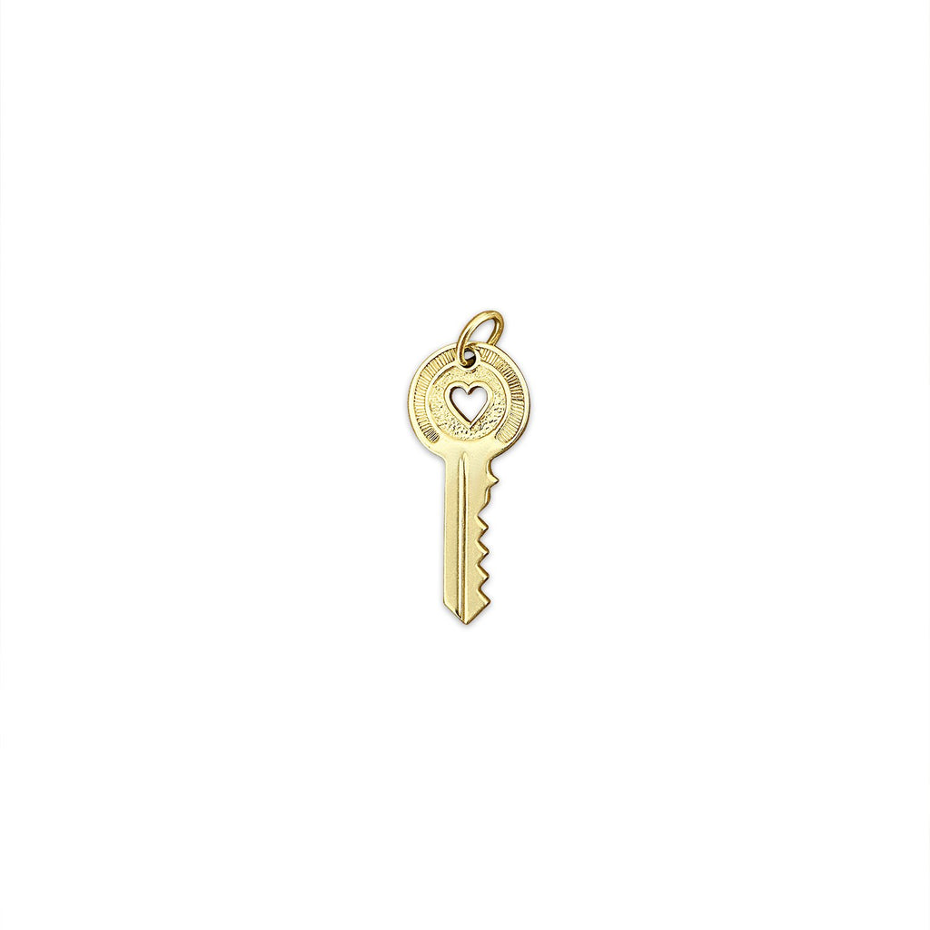 Vintage Heart Key Charm by Fewer Finer