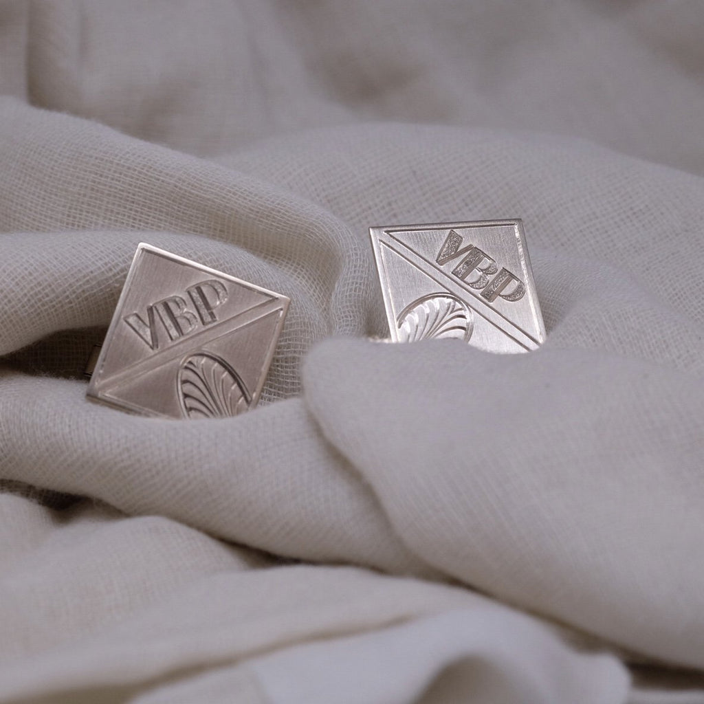 Custom Engraved Cufflinks [product type] - Fewer Finer