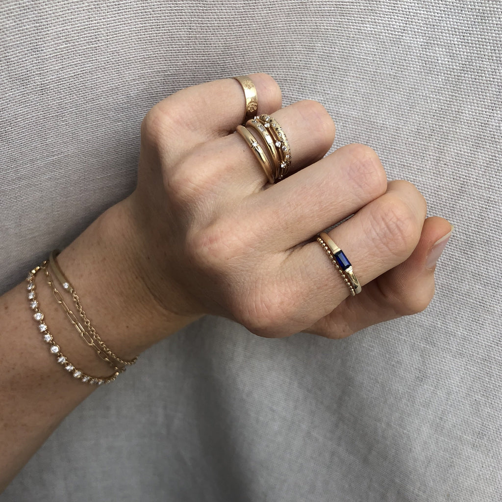 Minimalist Ball Chain Gold Ring