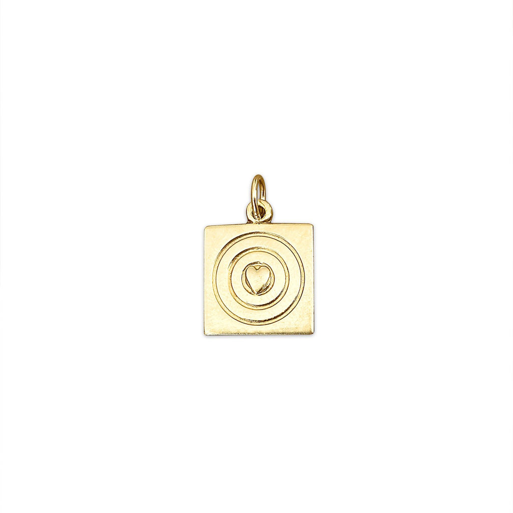 Vintage Heart Bullseye Charm by Fewer Finer