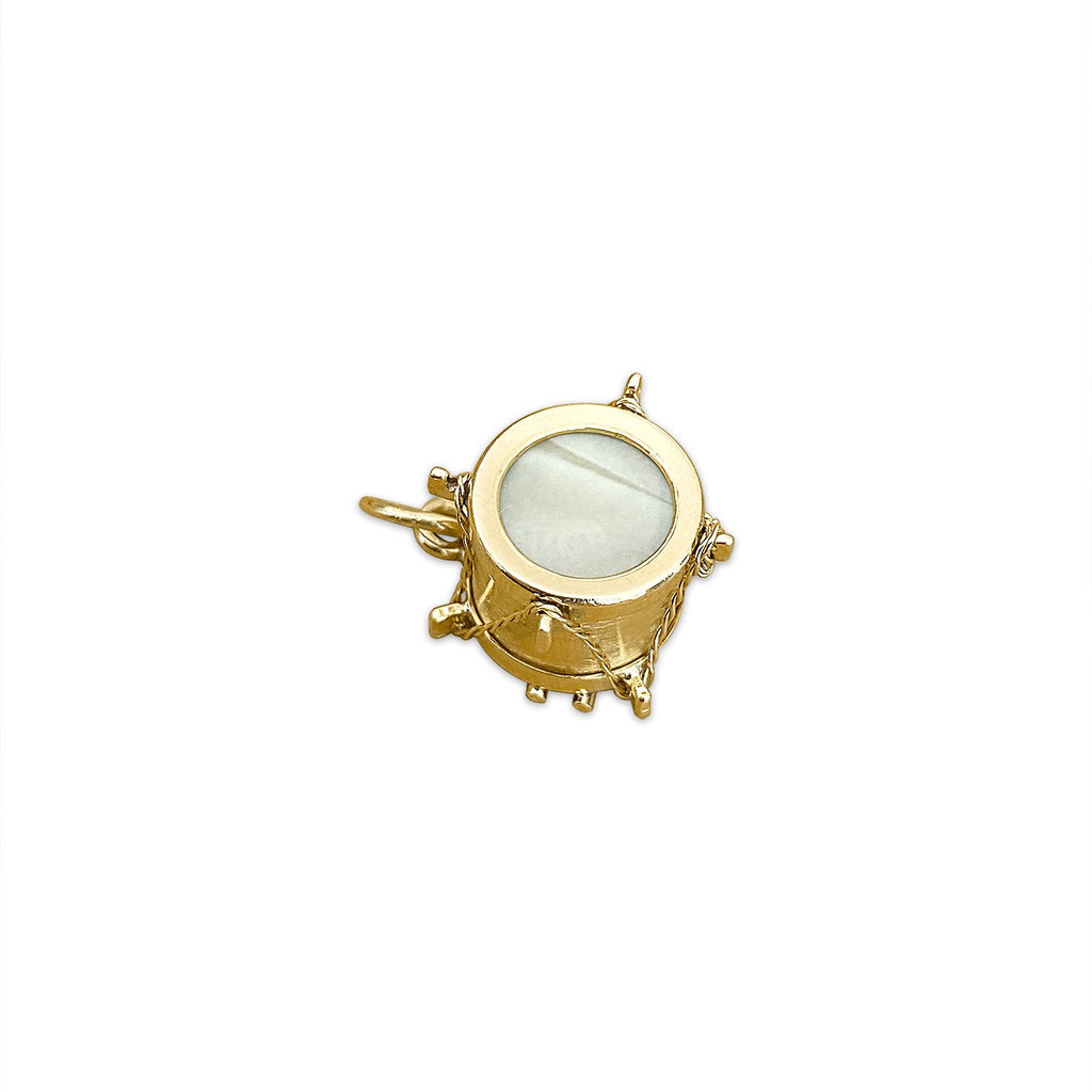 Vintage Mother of Pearl Drum Charm