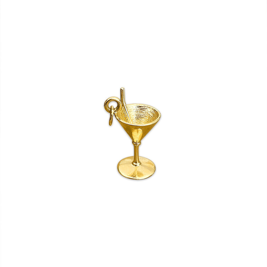Vintage Martini Glass Charm