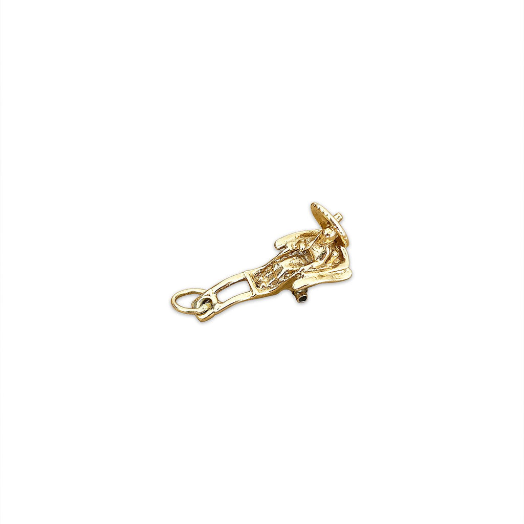Vintage 'Lady in Rickshaw' Charm by Fewer Finer