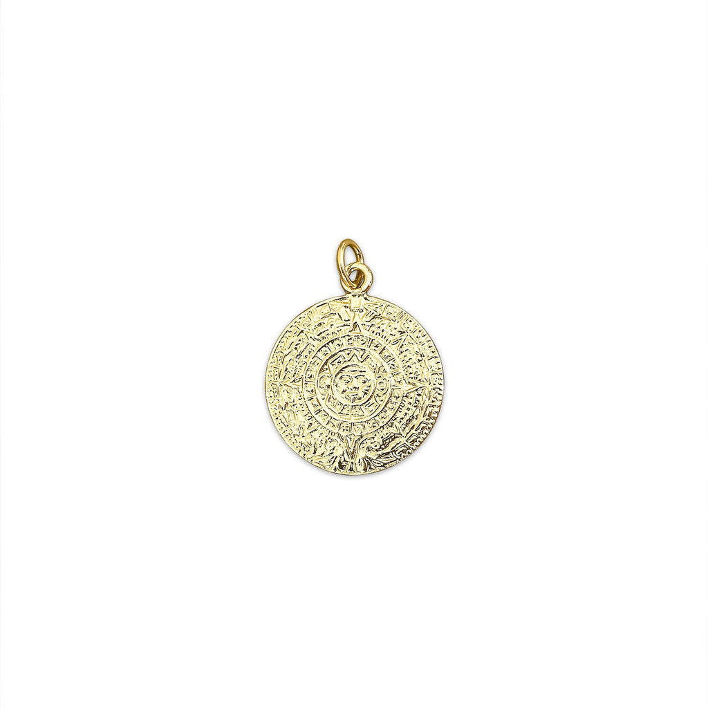 Vintage Aztec Calendar Charm by Fewer Finer