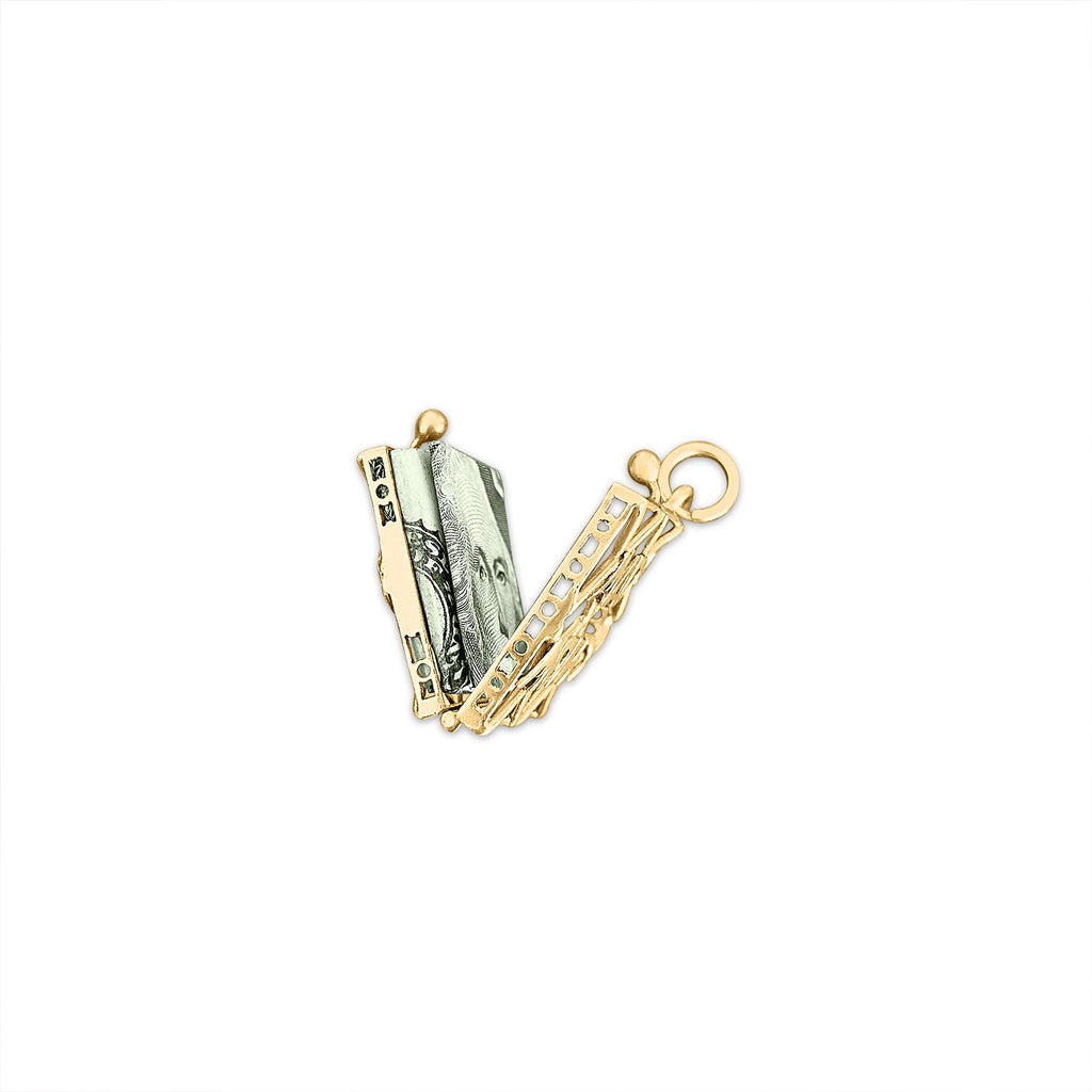 Open Vintage 'Mad Money' Purse Charm