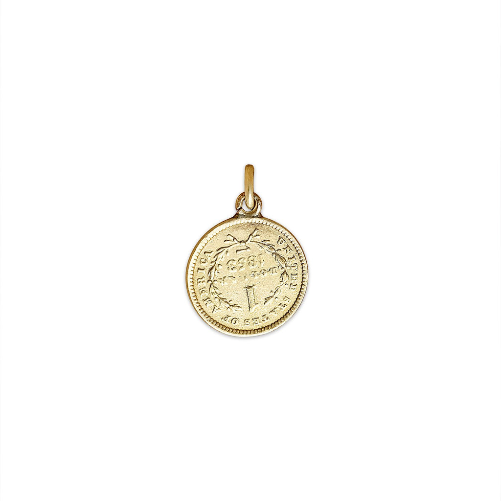 Vintage US $1 Coin Charm