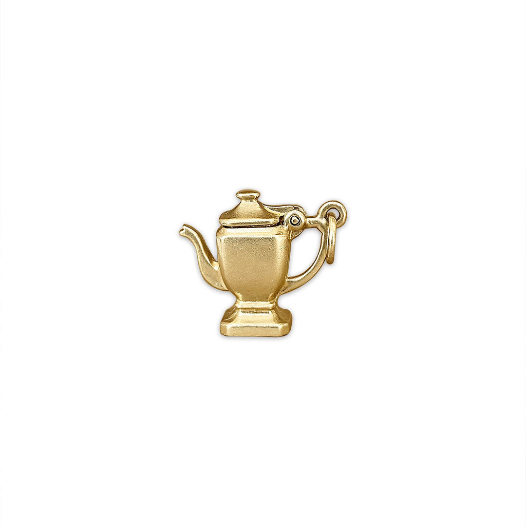 14k Gold Vintage Working Teapot Charm