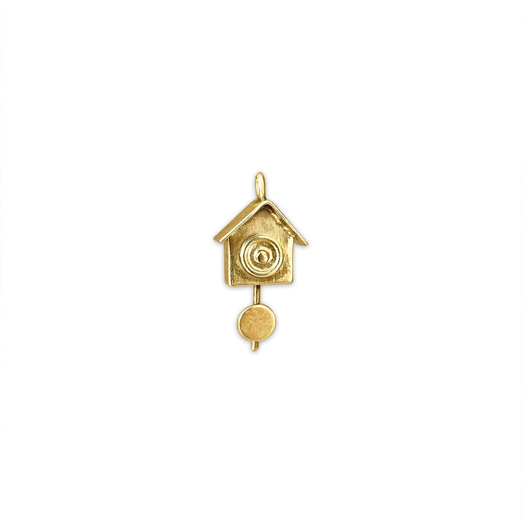 Vintage Cuckoo Clock Charm by Fewer Finer