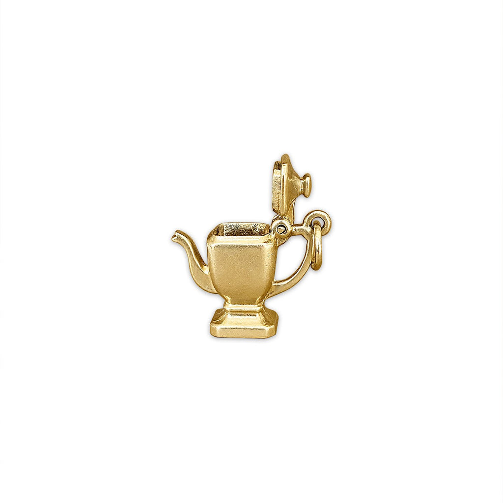 Vintage Working Teapot Charm by Fewer Finer