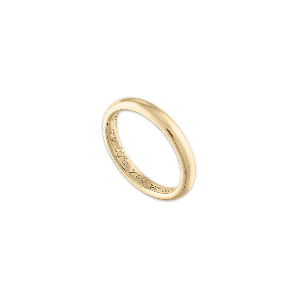 14k Gold Personalized Simple Gold Band