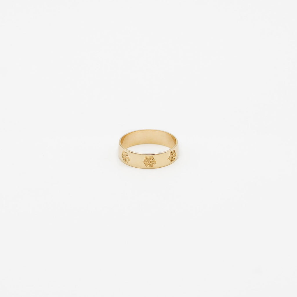 Fig Leaf Gold Ring for Women by Fewer Finer