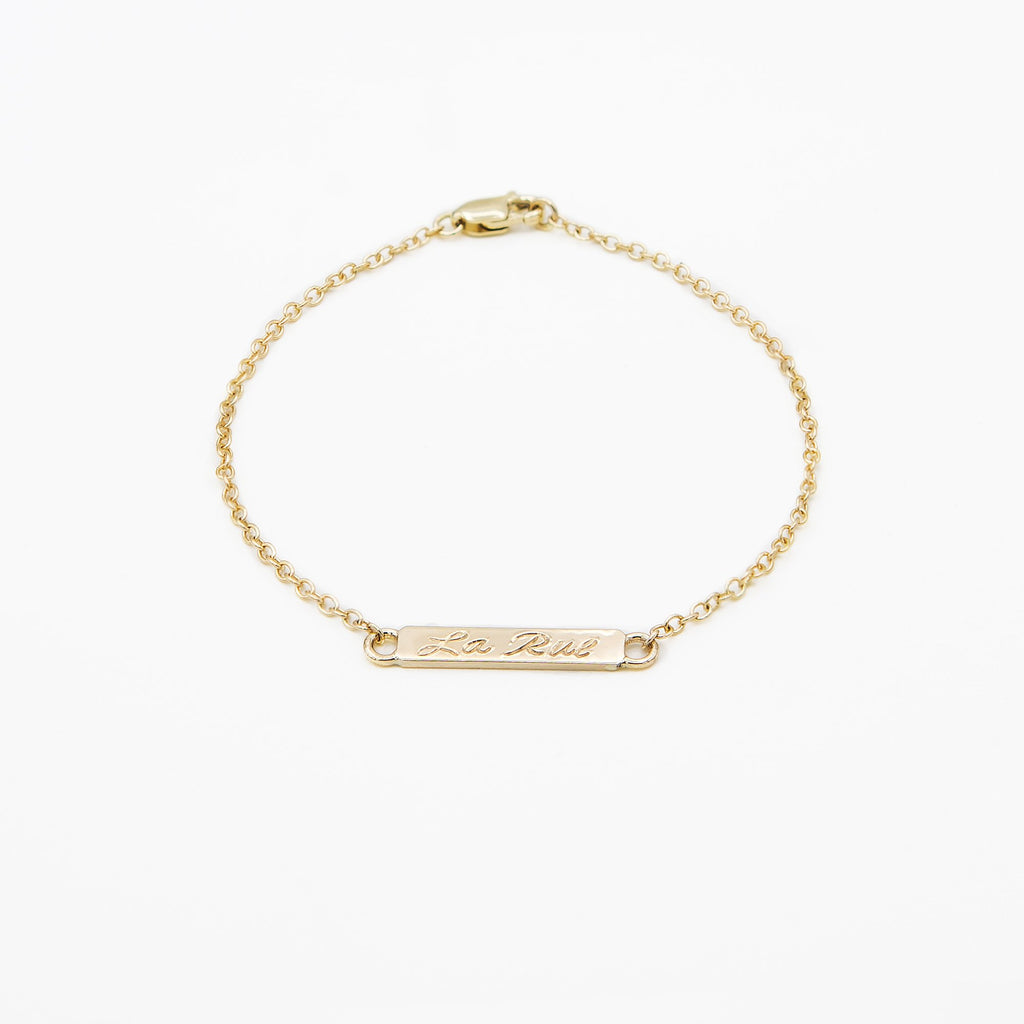 14k Yellow Gold Nameplate Bracelet