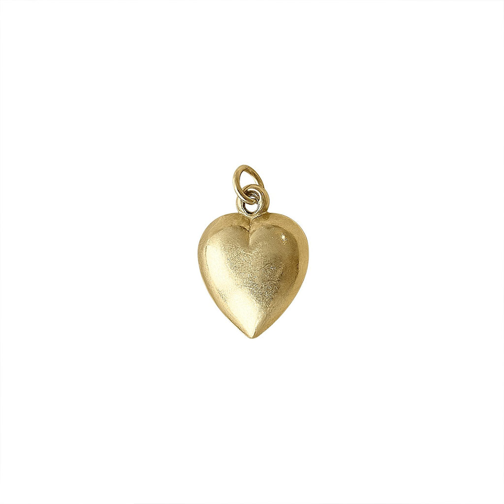 Vintage Gold Heart Charm by Fewer Finer