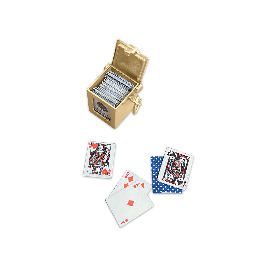 Vintage Deck of Cards Charm