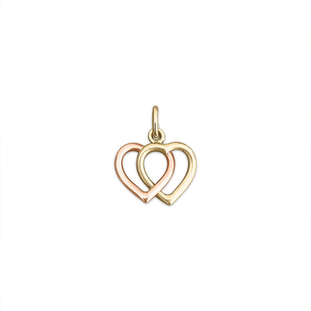 Vintage Double Hearts Charm by Fewer Finer