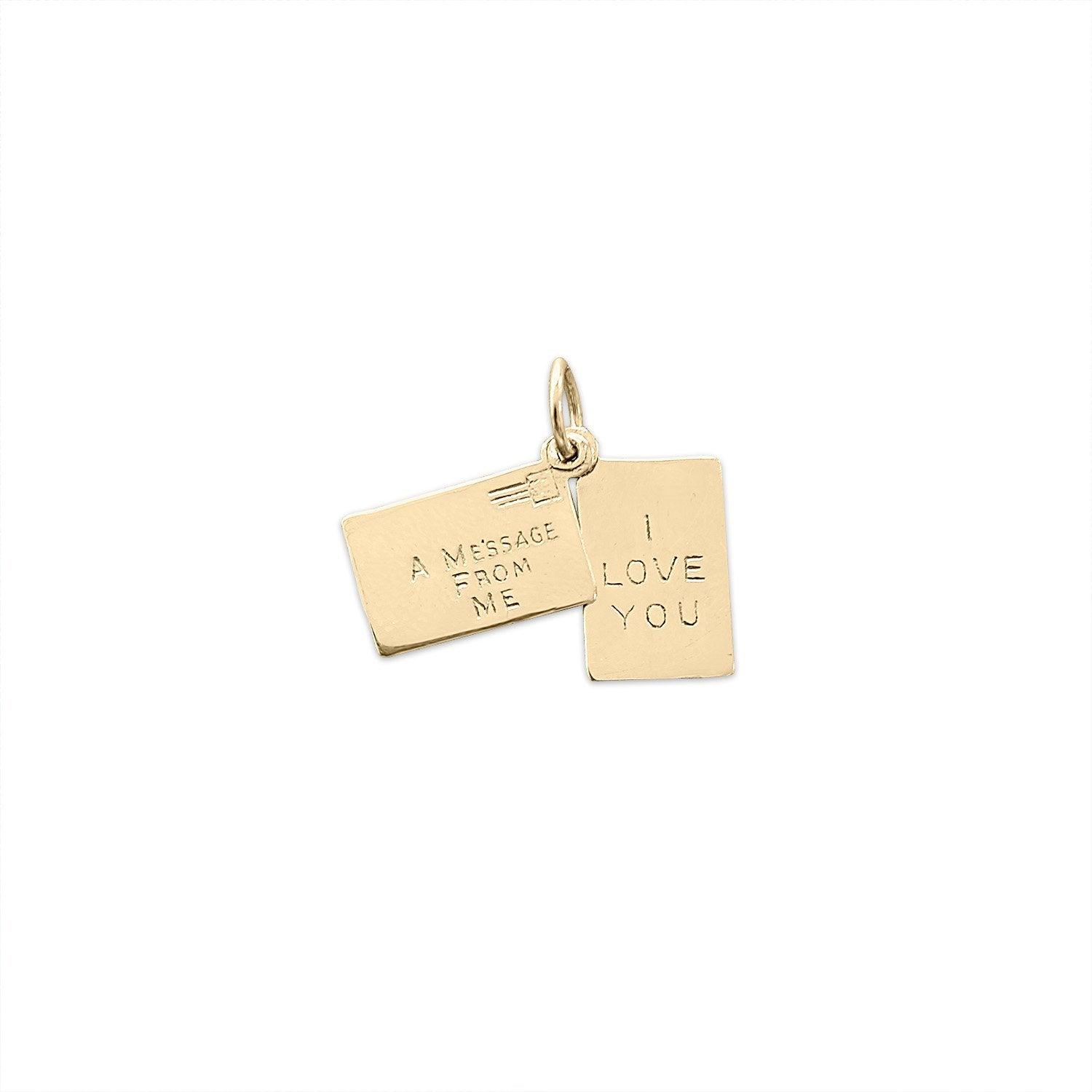Vintage 'I Love You' Message Charm by Fewer Finer