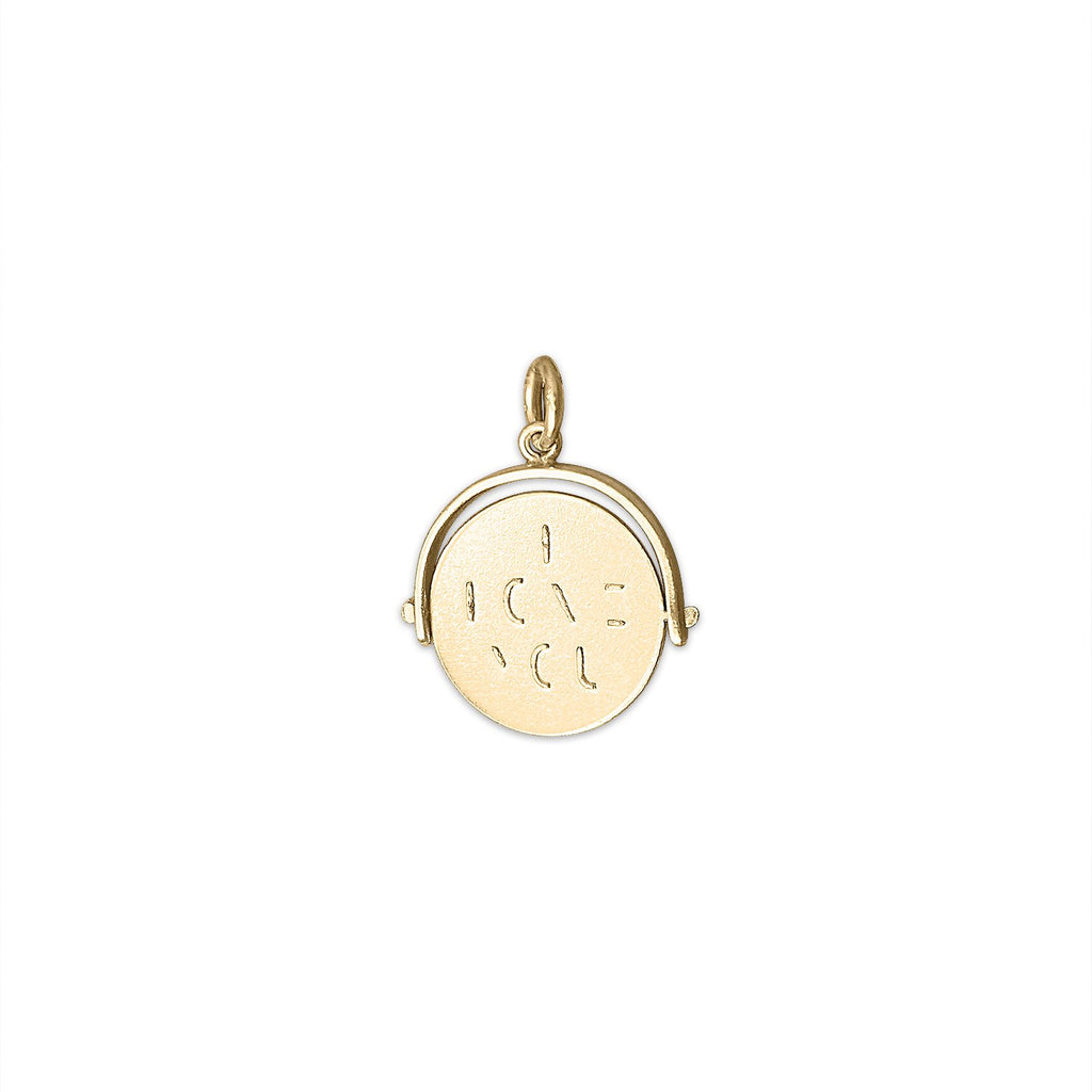 14k Gold Vintage Love Spinner Charm