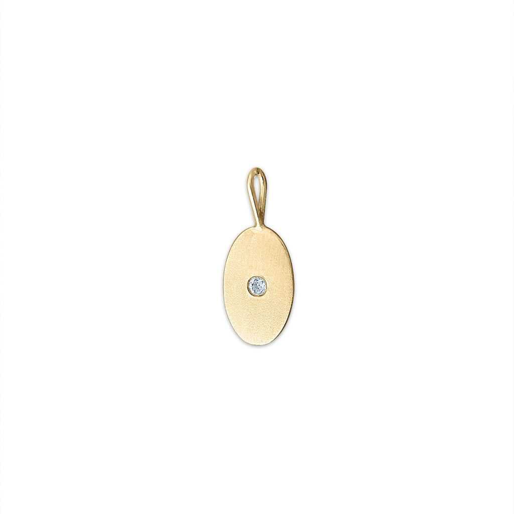 Vintage Diamond Oval Charm by Fewer Finer