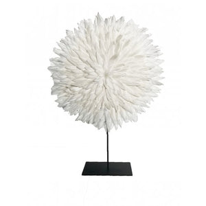Zambesi Feather Disc  - Small - White