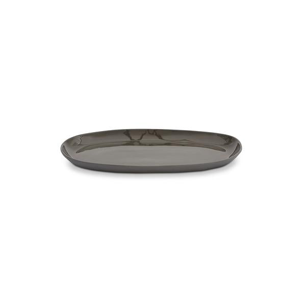 Cloud Oval Plate Charcoal (M)