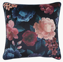 Load image into Gallery viewer, Eclipse Floral Ink/Blush Velvet Cushion