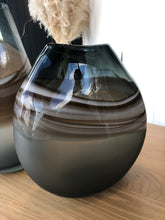 Load image into Gallery viewer, Nalpa Charcoal Glass Vase Small