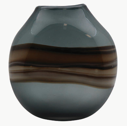Nalpa Charcoal Glass Vase Small