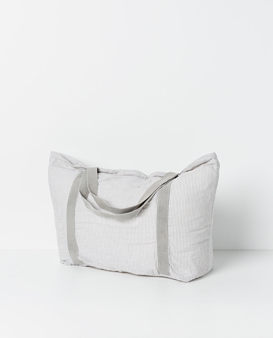 Roxi linen tote bag - Stripe