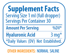 Synthovial Seven Supplement Facts