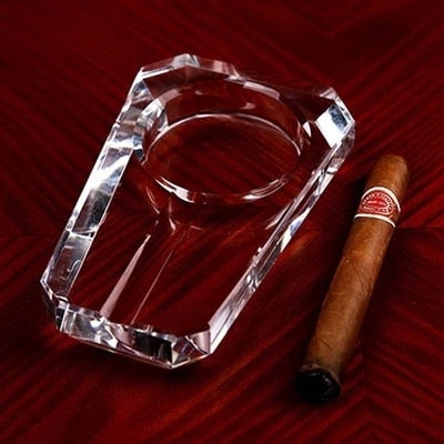 Glass Crafted Cigar & Cigarette Ashtray