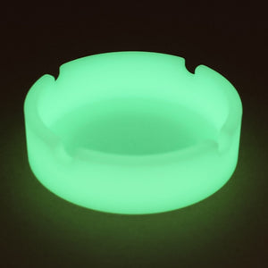 Eco-Friendly Glow in the Dark Rubber Silicone Round Cigarette Ashtray