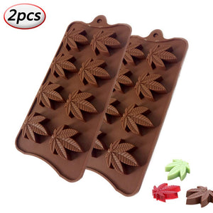 Silicone Marijuana Leaf Molds - 2 Pieces