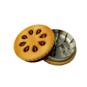 Biscuit Shaped Weed Grinder with Double Layered Diamond Teeth